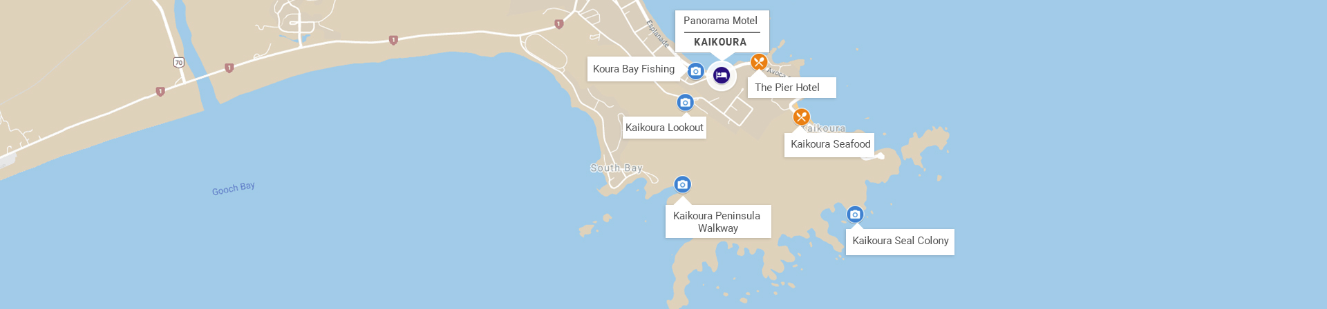 KaiKoura Motel Location